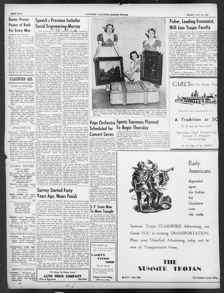 Summer Trojan, Vol. 19, No. 6, July 12, 1940