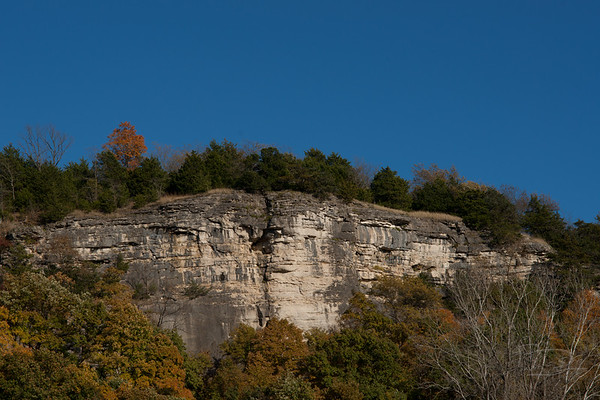 Missouri River Bluffs, not far from Wilton, Missouri.