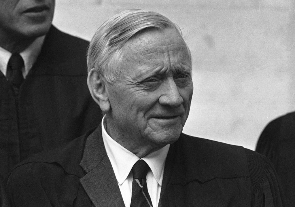 . Associate Justice of the U.S. Supreme Court William O. Douglas is shown in an undated photo.  (AP Photo)