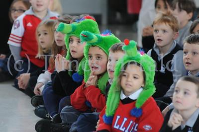 Phillie Phanatic visits Holy Rosary Regional Catholic School