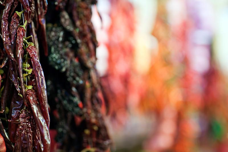 Red chili peppers, Boqueria market, town of Barcelona, autonomous commnunity of Catalonia, northeastern Spain