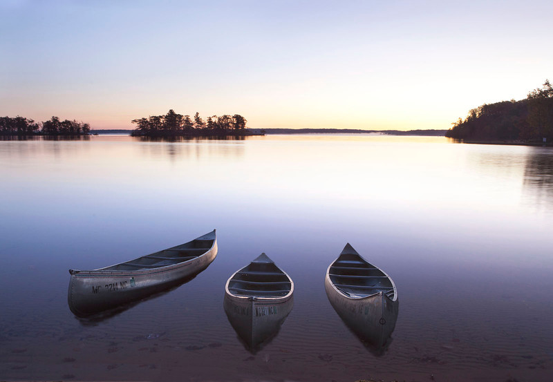 Canoes at dawn