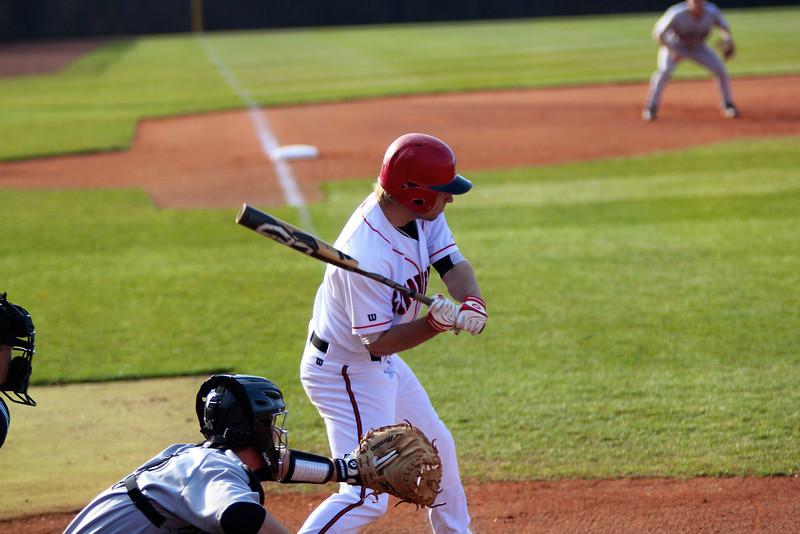 No. 18, Scott Coleman, hits the ball