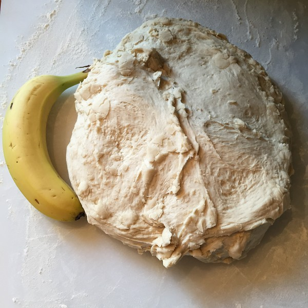 Dough Ball - Bananna for Scale
