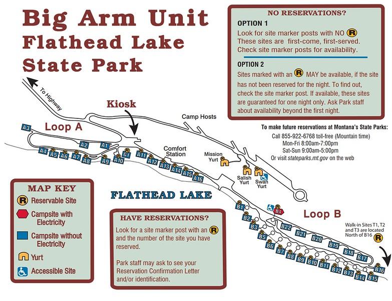 Big Arm-Flathead Lake State Park (Campground Map)