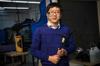 15371 Engineering Professor Zifeng Yang Wind Turbine Propeller Newsroom Story 2-27-15