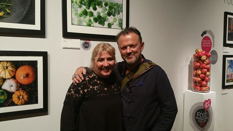 With the photographer David Loftus at THE MALL Galleries, London, UK