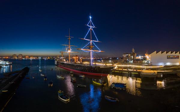 Portsmouth Historic Dockyard Aerial