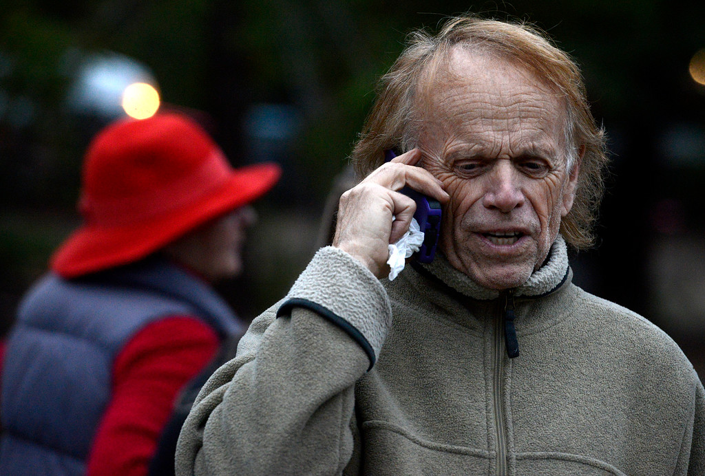 . Al Jardin, Big Sur resident and Member of The Beach Boys gathered with others at the community briefing to support a friend who lost his home in Big Sur, Calif. on Wednesday December 18, 2013. (Photo David Royal/ Monterey County Herald)