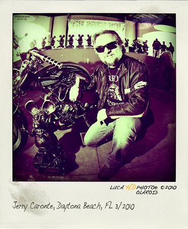 Jerry Caronte, RATS HOLE SHOW, Daytona Bike Week 2010  www.custombikeitaly.com/