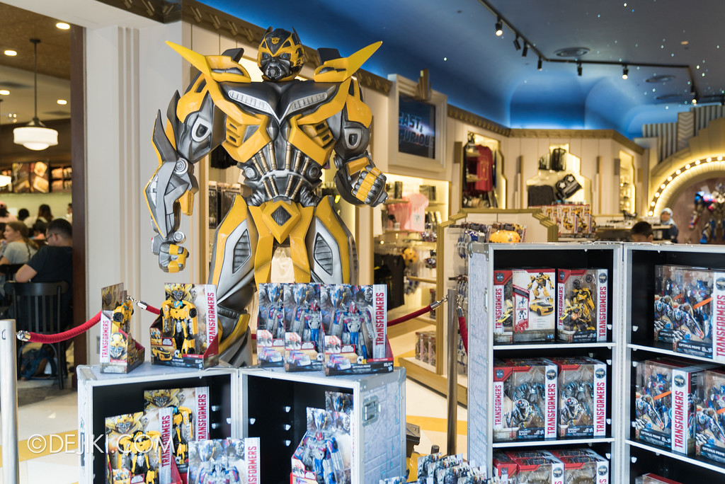 Universal Studios Singapore Park Update June 2017 - Transformers The Last Knight store display at Silver Screen Store