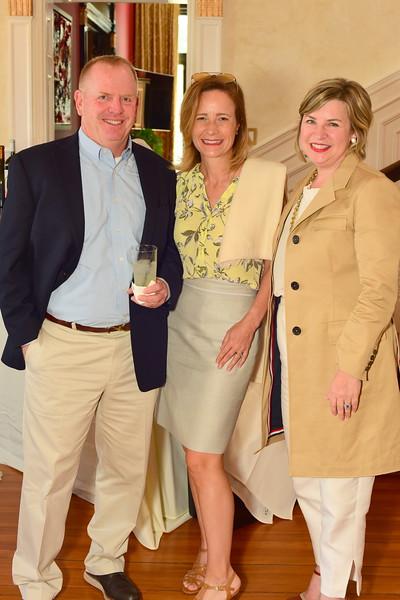 Will and Kristen Wanghorn, Courtney Strauss, Cocktails at Selma Mansion, June 7, 2018, Nancy Milburn Kleck