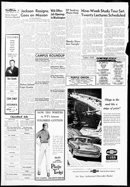 Daily Trojan, Vol. 48, No. 74, February 15, 1957