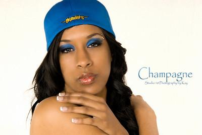 Champagne sexy basketball photoshoot