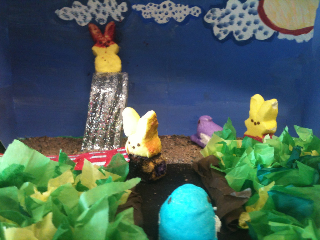 ". ""Hanging with Our Peeps,\"" by Molly and Lily Timmerman, Minneapolis"