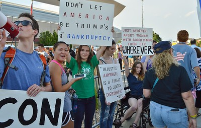 Donald Trump Rally & Protest - Denver, Co 7/29/16