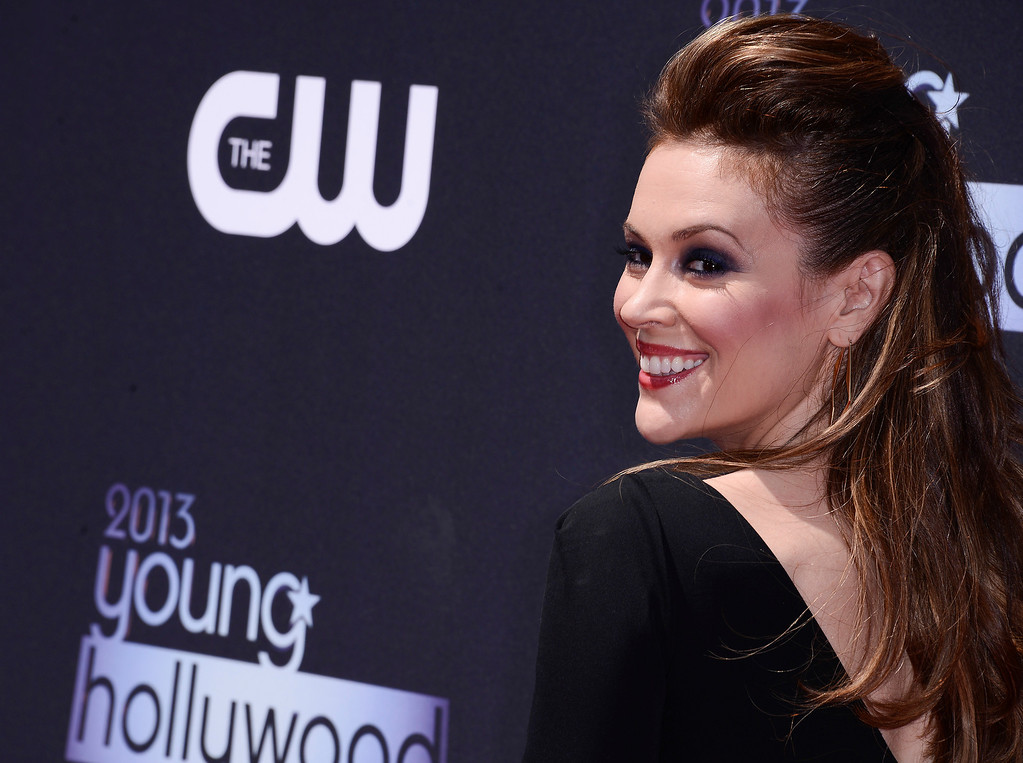 . Actress Alyssa Milano arrives at the 2013 Young Hollywood Awards at The Broad Stage on Thursday, August 1, 2013, in Santa Monica, Calif. (Photo by Dan Steinberg/Invision/AP)