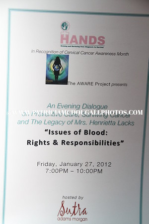 HANDS - An Evening Dialogue on Preventive Care, Surviving Cancer and The Legacy of Mrs. Henrietta Lacks
