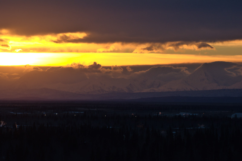 Sunrise over Fairbanks