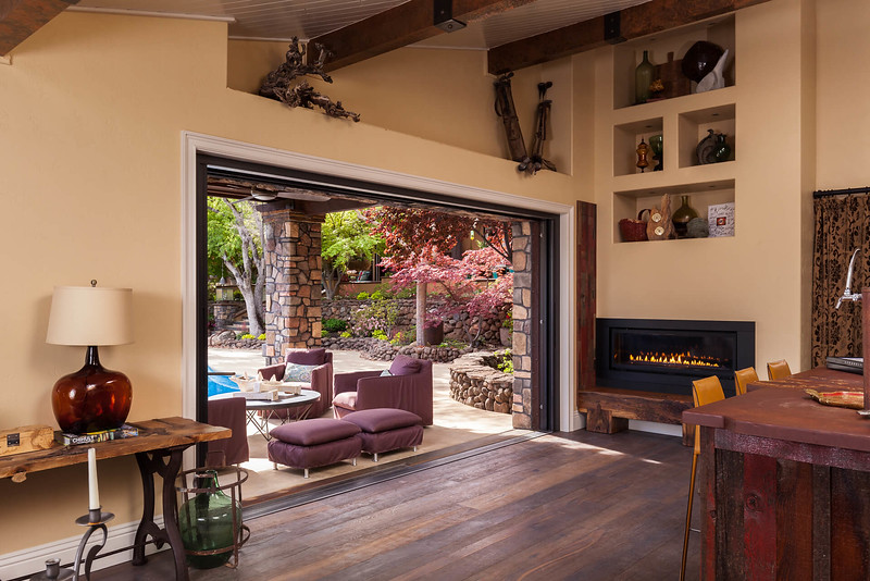Chico Commercial Photography-Residential-pool-house-bar-with-large-patio-door.jpg