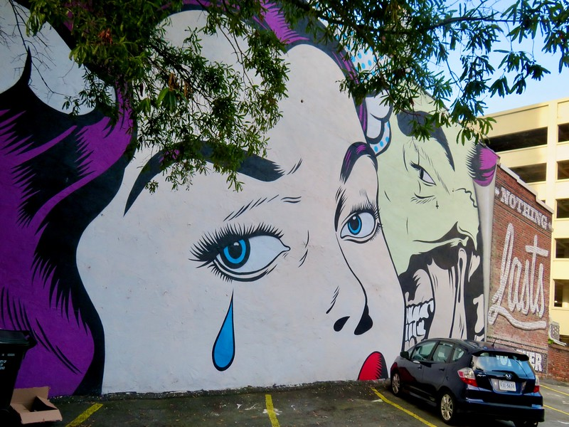 D*Face mural - richmond virginia - nothing lasts forever