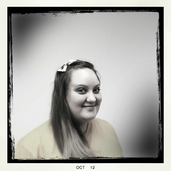 Amanda as a roller derby girl