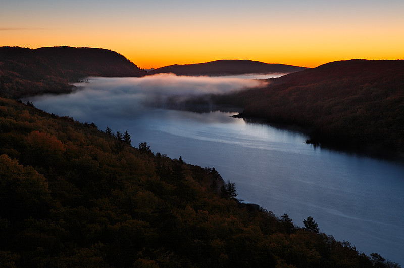 Lake of the Clouds (Porcupine Mountains State Park - Upper Michigan)