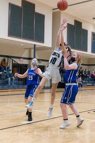 2021-03-04 Hillsdale Academy JV and Varsity Girl's Basketball vs. Pittsford