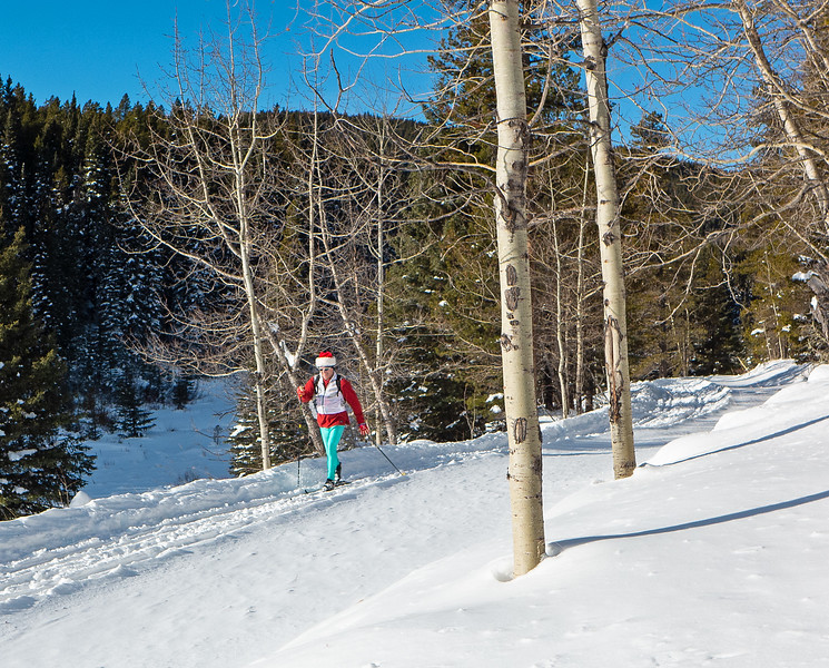 Unknown skier getting into the groove on Christmas Eve.