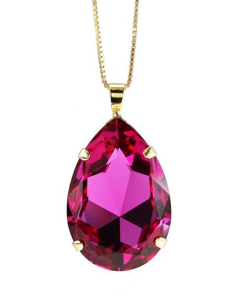 Perfect Drop Necklace / Fushia