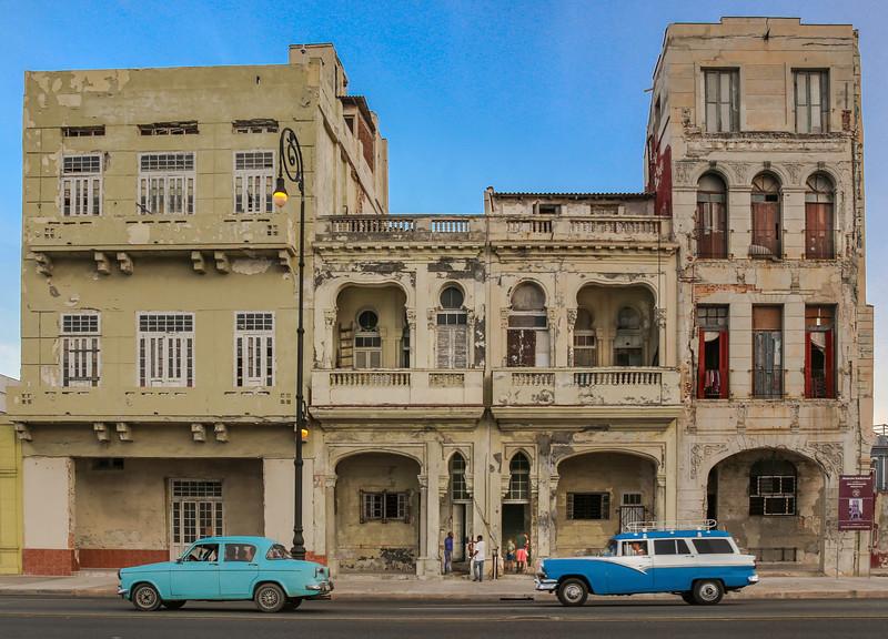 Classic Cars on the Havana Malecon