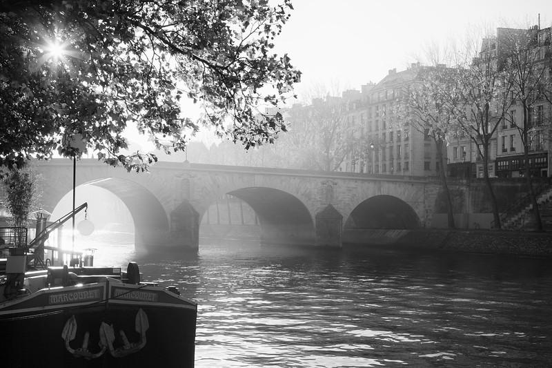 Paris Seine Sunburst