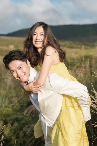 韓系婚紗風格陽明山黑森林擎天崗