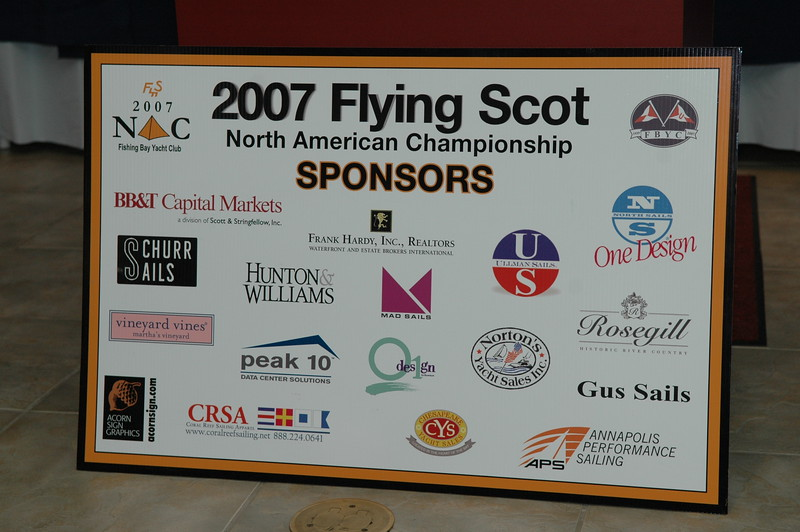 2007 Flying Scot North American Championship Sponsors