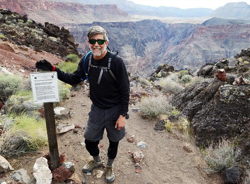 Death defying hiker dude