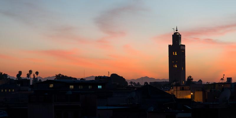 overlooking the Medina at sunset