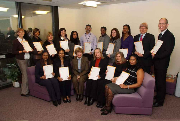 Haringey Chief Executive presents staff awards. 2008