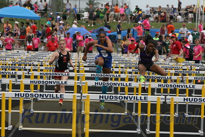 100M Hurdles Girls Finals - 2016 MHSAA LP D1 TF Finals