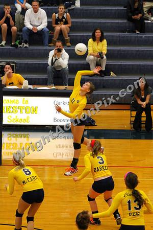 2010 10 19 Clarkston Varsity Girls Volleyball vs Lake Orion