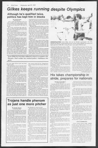 Daily Trojan, Vol. 71, No. 47, April 27, 1977