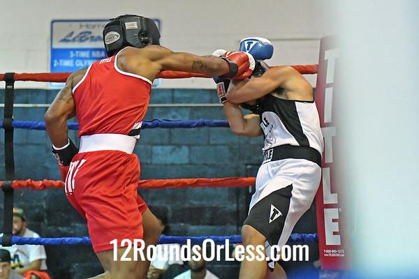 Bout #6:  Marlon Johnson, Red Gloves, Toledo, OH  -vs-  Victor Christian, Blue Gloves, New Philadelphia, OH