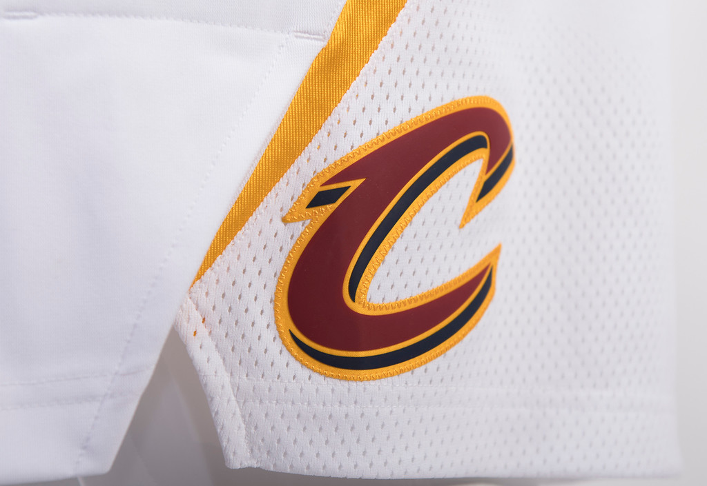 . The back of the shorts feature the new Cavs �C� logo on both the right and left leg. (Courtesy Cleveland Cavaliers)