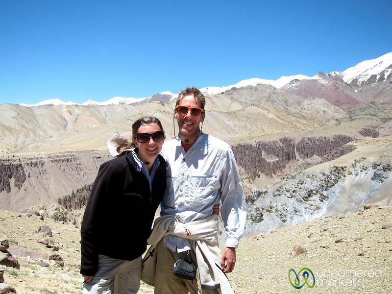 Dan and Audrey in Ladakhi Mountains - Markha Valley Trek, Hankar to Nimiling