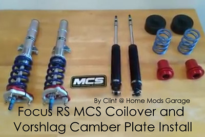 Focus RS MCS Coilover and Vorshlag Camber Plate Install