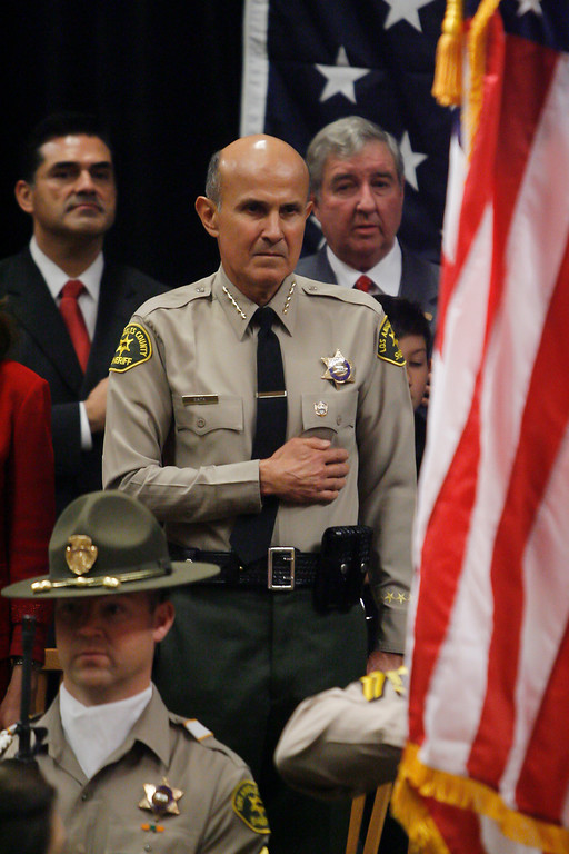 . Los Angeles County Sheriff Leroy Baca at his swearing in ceremony at Our Lady of the Angels in Los Angeles Monday.   12/20/2010.  Photo by David Crane/Los Angeles Daily News