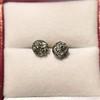 1.73ctw Georgian Peruzzi Cut Diamond Collet Stud Earrings 13