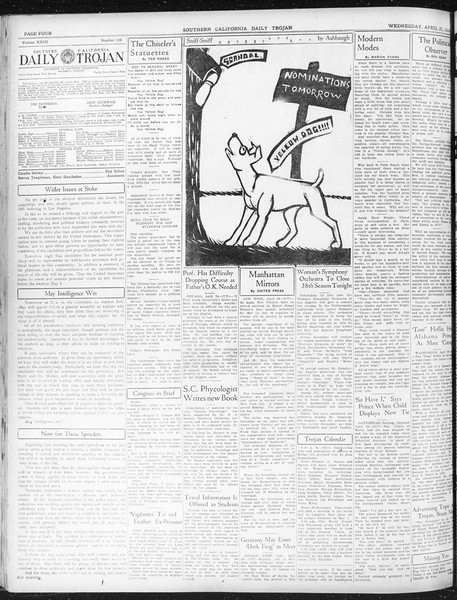 Daily Trojan, Vol. 23, No. 134, April 27, 1932