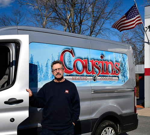 3/4/2020 Mike Orazzi | Staff Mark Theriault from Cousins Oil in Bristol.