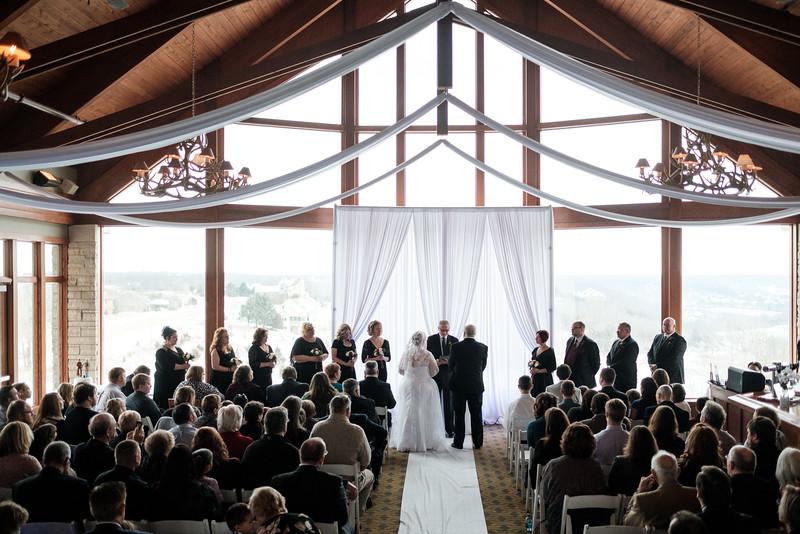 Patty & Bill's snowy Eagle Ridge - Galena Wedding