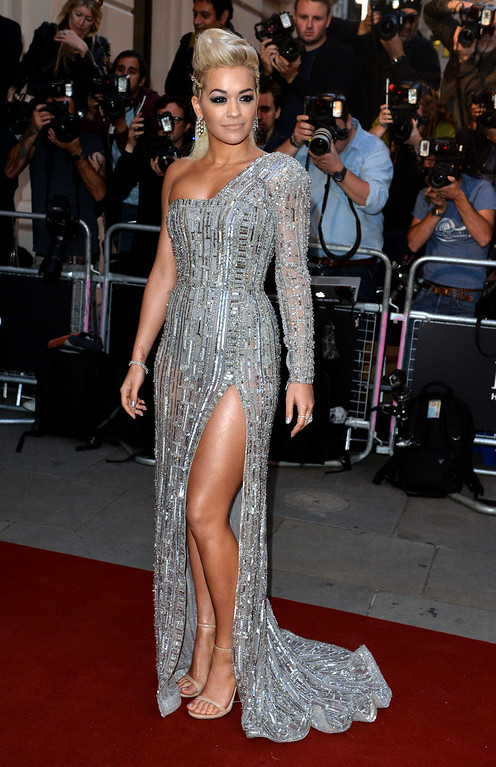 . Rita Ora attends the GQ Men of the Year awards at The Royal Opera House on September 2, 2014 in London, England.  (Photo by Anthony Harvey/Getty Images)